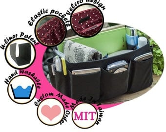 Multi-Compartment Purse Organizer Practical and Easy to Use / Extra Sturdy / Black  / Medium 22x8cm