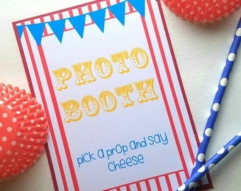 Carnival Party Signs - Carnival Party Decorations - Carnival Birthday - Carnival Party - Carnival Theme - Circus Party Decoration 5x7