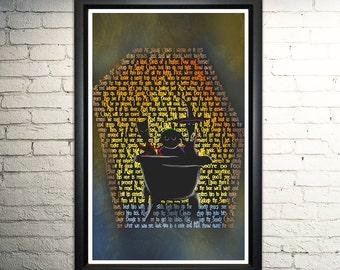 "Nightmare Before Christmas Lock Shock and Barrel word art print - 11x17"""