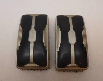 Vintage Art Deco Hair Brush - Pair of Art Deco Hair Brush - Mans Art Deco Hair Brush - Vintage Hair Brush - Mans Hair Brush