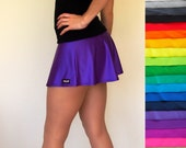 Custom Colour Flared Skort, Skirt with Attached Shorts - Pre-Order