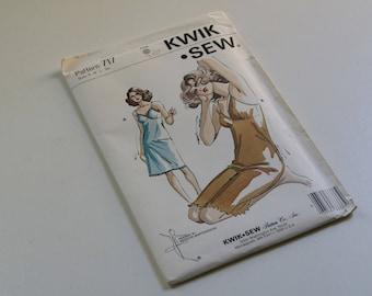 Vintage Kwik Sew  Pattern 717, Lingerine Pattern, Full Slip, Kerstin Martensson Designed,S - M - L - Xl, Unopen