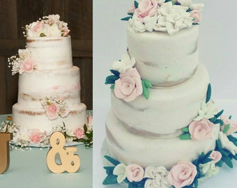 Wedding Cake Ornament, naked Wedding Cake Replica, 25th 10th 5th anniversary Gift, newlywed, wedding gift,  first christmas,  1st christmas