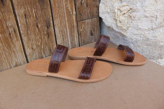 Mens sandals. Greek sandals  SIZE U.S 8-8.5/ 39 greek leather sandals