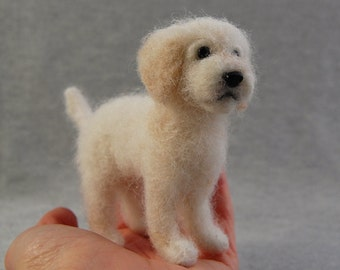 Goldendoodle Dogs, Goldendoodles, Goldendoodle Needle Felted Dog, Small Felted Dogs, Golden Doodle, Goldendoodle Gifts, Goldendoodle Dog