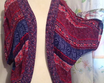 SMALL/MED, Top Bohemian Hippie Boho Colorful Open Top