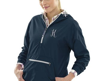 Women's Anorak Pullover in Navy