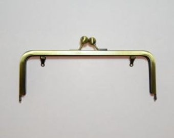 "Purse Frames 200mm/8"" Brass Glue In (WITH LOOPS)"