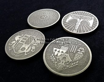 Destiny Record book coins/medallions Dawning, Rise of Iron, Moments of Triumph, and Age of Triumph