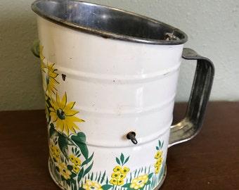 Vintage Sunflower Flour Sifter