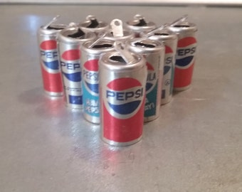 Vintage Mini Pepsi Soda Can Charms - Circa 1970's
