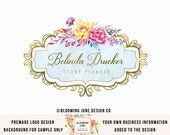 event planner logo wedding planner logo photography logo watercolor logo florist logo beauty logo make up artistry logo premade logo design