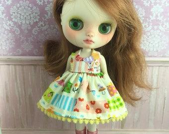 Blythe Middie Dress - Kawaii Patchwork