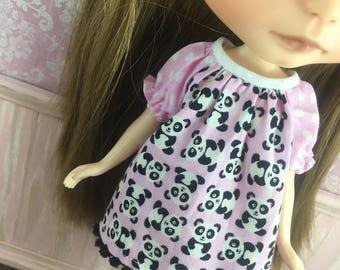 Blythe Smock Dress - Mini Pandas