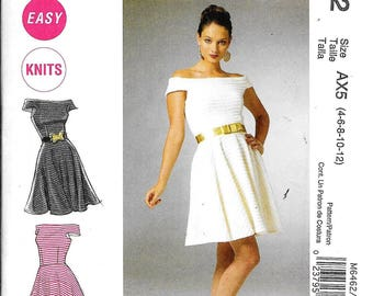 McCall's M6462 Misses Off The Shoulder Evening Dress Sewing Pattern UNCUT Size 4, 6, 8, 10, 12