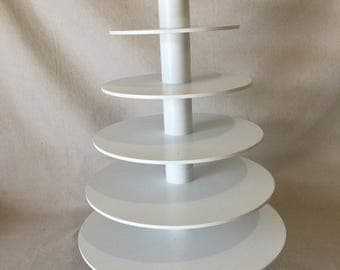 6 Tier Round Custom Made Cupcake Stand - Holds up to 115 Cupcakes