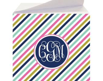 Personalized Sticky Note Cubes - Custom Notepad, Memo Cube, To Do list, Desk Pad, Note Paper, Teacher Gift, Co Worker Gift
