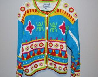 Vintage Sweater Urban to Aztec Chic Cardigan