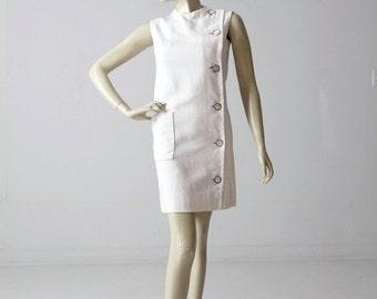 SALE vintage 60s Marie McCarthy for Larry Aldrich mod shift dress