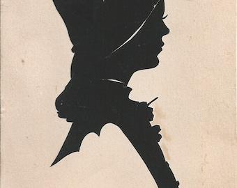 Vintage Silhouette Cutout Edith Lewis Artist