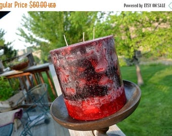 On Sale Candle~Handcrafted Candle~ Tranquil Moments~ Black Raspberry Vanilla Candle~ Round  Pillar  ~XX LARGE   6 x 6 ~Triple Wicks
