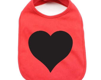 Heart Infant Baby Soft 100% Cotton Bibs