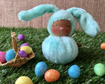 Little Mint Green Waldorf Bunny - Easter Rabbit