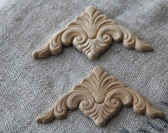Wooden furniture applique ONE per order- multiples available- decorative charm for your furniture projects
