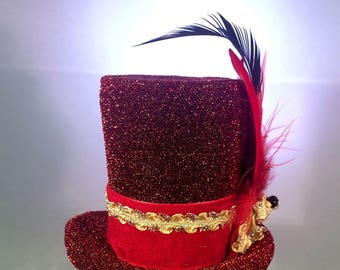 Ruby Red Teeny Top Hat