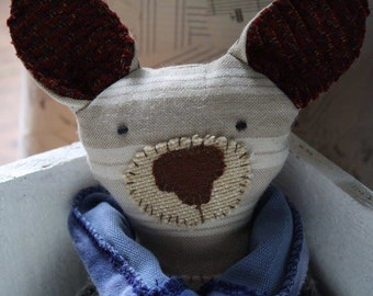 Eco friendly stuffed mouse, eco toy, plushie, toy mouse, handmade