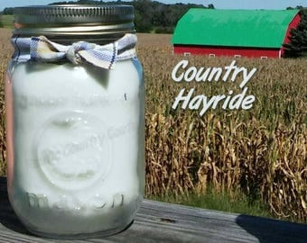 Country Hayride Soy Candle in 16 oz Jar