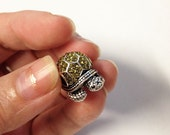 Tortoise European style large Hole Bead Charm / Fine Jewelry