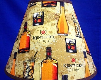 Bourbon Mint Julep Derby Horse Racing Lamp Shade