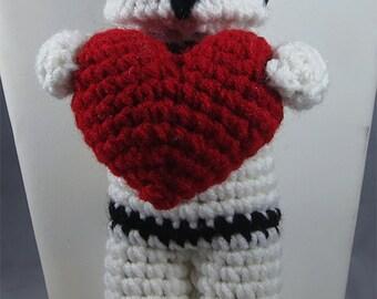 Valentine Star Wars Inspired Storm Trooper Heart Plush Crochet
