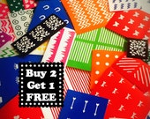 Nail Art Decals, Stencils, envelope stuffed with TONS of Chevron, Diamonds, shapes. decals, stencils, stickers