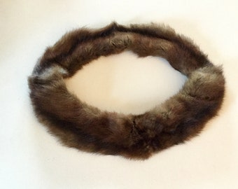 Vintage Circular Fur Collar Very Good Condition, Crafts, Costumes, Retro, Theater,  Free  Shipping USA