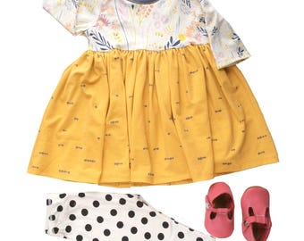 Girl easter dress Girl easter outfit Baby girl clothes baby dress Hipster baby clothes Newborn girl outfit Boho Baby clothes Spring dress