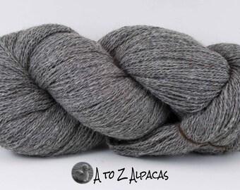 Royal Baby Natural Alpaca Yarn Sock Weight  Gray