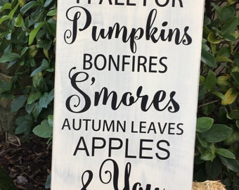 Fall Wood Sign Every Year I Fall for Pumpkins Farmhouse Decor Fall Decor Fall Sign Pumpkin Sign Autumn Decor Rustic Wooden Sign Barn Wedding