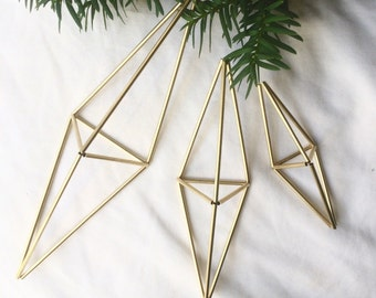 Set of 3 Prism Ornaments - SM MED LG