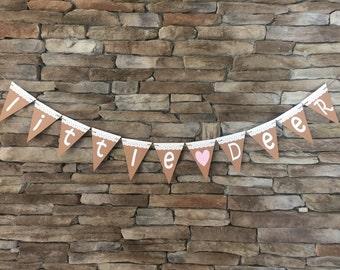 Little Deer Banner, Little Deer Themed Party, Baby Shower banner