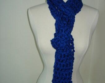 Blue Handmade Crochet Scarf