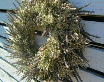 Dried Lavender and Statice Wreath