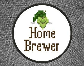 Home Brewer (Hops) Cross Stitch Pattern