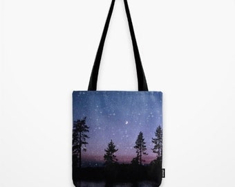 Twilight Forest Tote Bag 18'' x 18''
