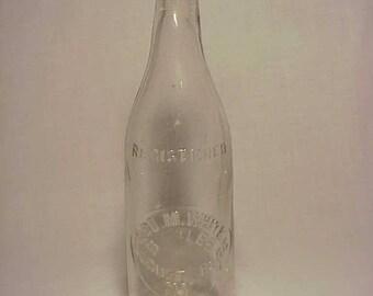 c1890s Geo. M. White Locust Shade, N.Y. , Clear Blob Top Beer Bottle
