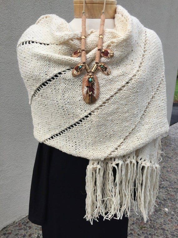 Casual elegance while wearing this wrap.