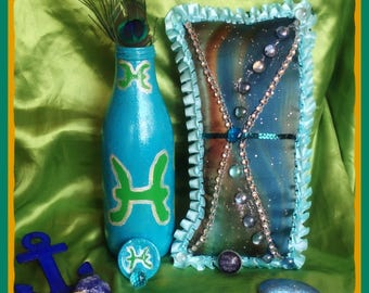 Pisces The Fish Symbol Gypsy Bottle
