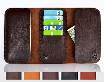 Samsung Galaxy S8 wallet case | Leather wallet for Galaxy S8 | Genuine full grain Italian leather