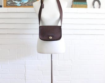 Vintage Coach Purse // NYC Dinky Wide Strap Bag Brown RARE // Penny Handbag New York City Cashin